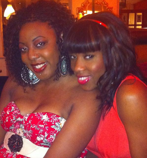 black girl red lipstick