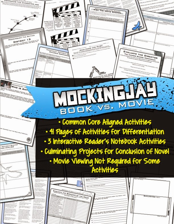 Mockingjay Book vs. Movie Activity Pack