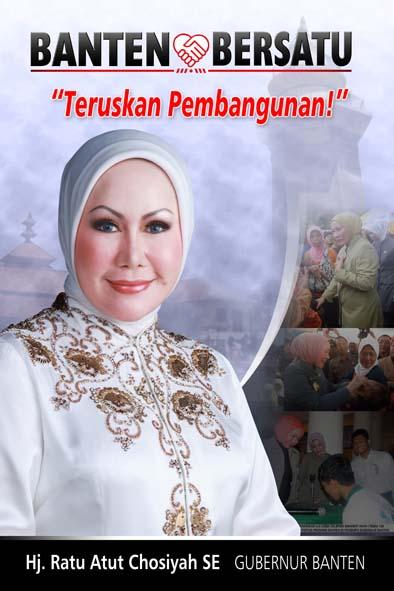 Ratu Atut Chosiyah Gubernur Tercantik Indonesia