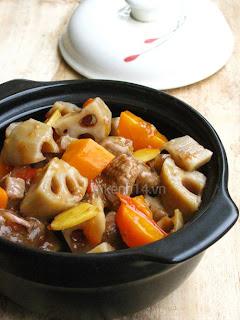 Bò kho củ sen thơm nức đưa cơm