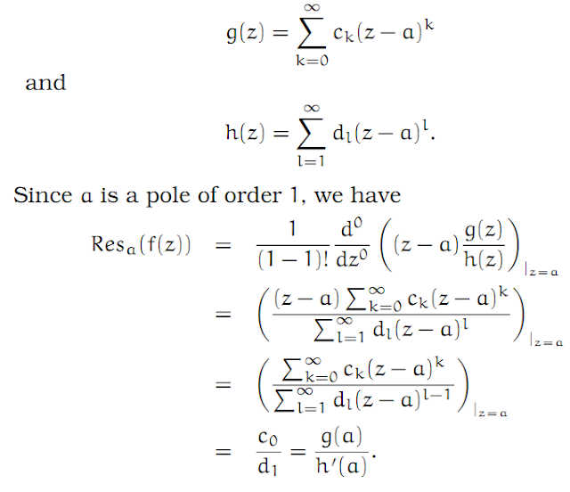Complex Analysis: #16 The Calculus of Residues equation pic 2