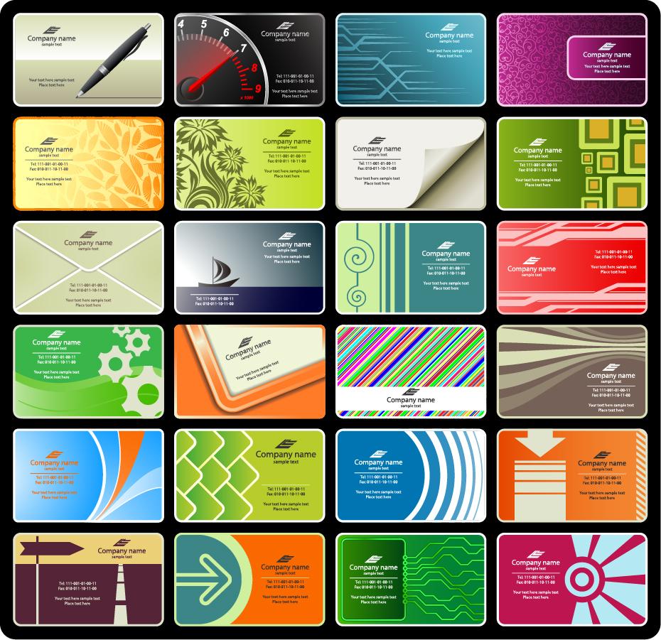 お洒落な背景のカード テンプレート variety of beautiful card template イラスト素材