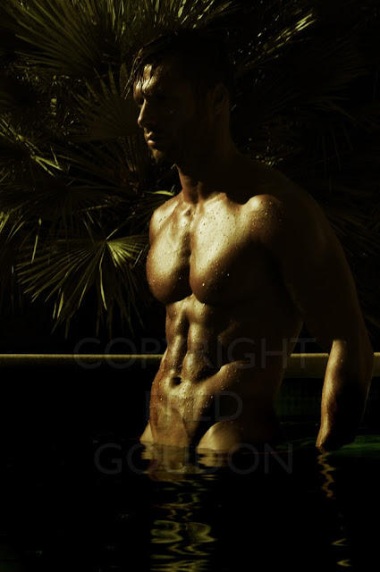 Picture About Male Fitness Model Mourad Back by Fred Goudson