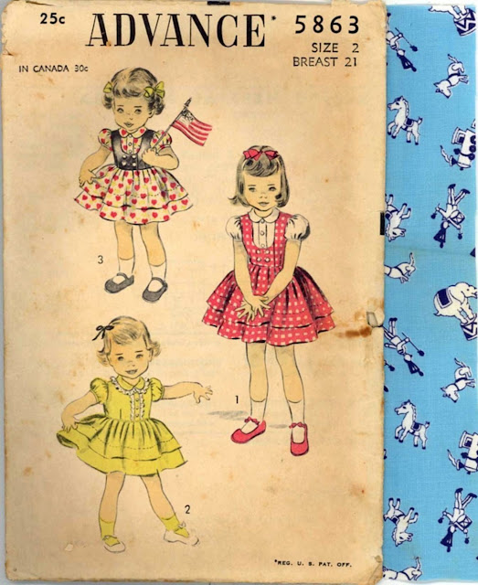 1940s baby dress little girl vintage pattern Just Peachy, Darling