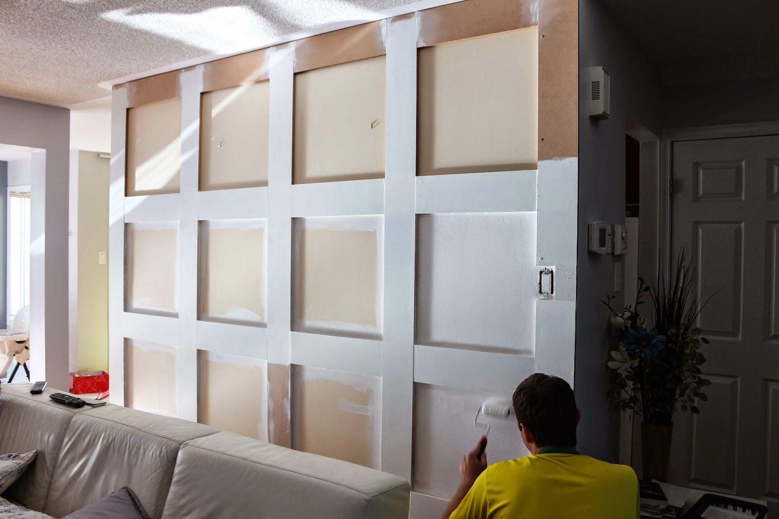 Square Wall Paneling : Square wall panels like a new home