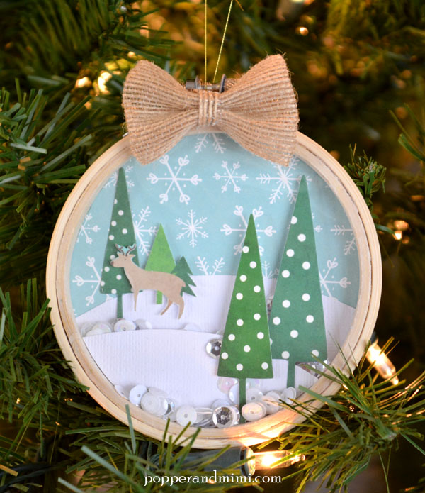 Woodland Snow Globe Shaker Ornament