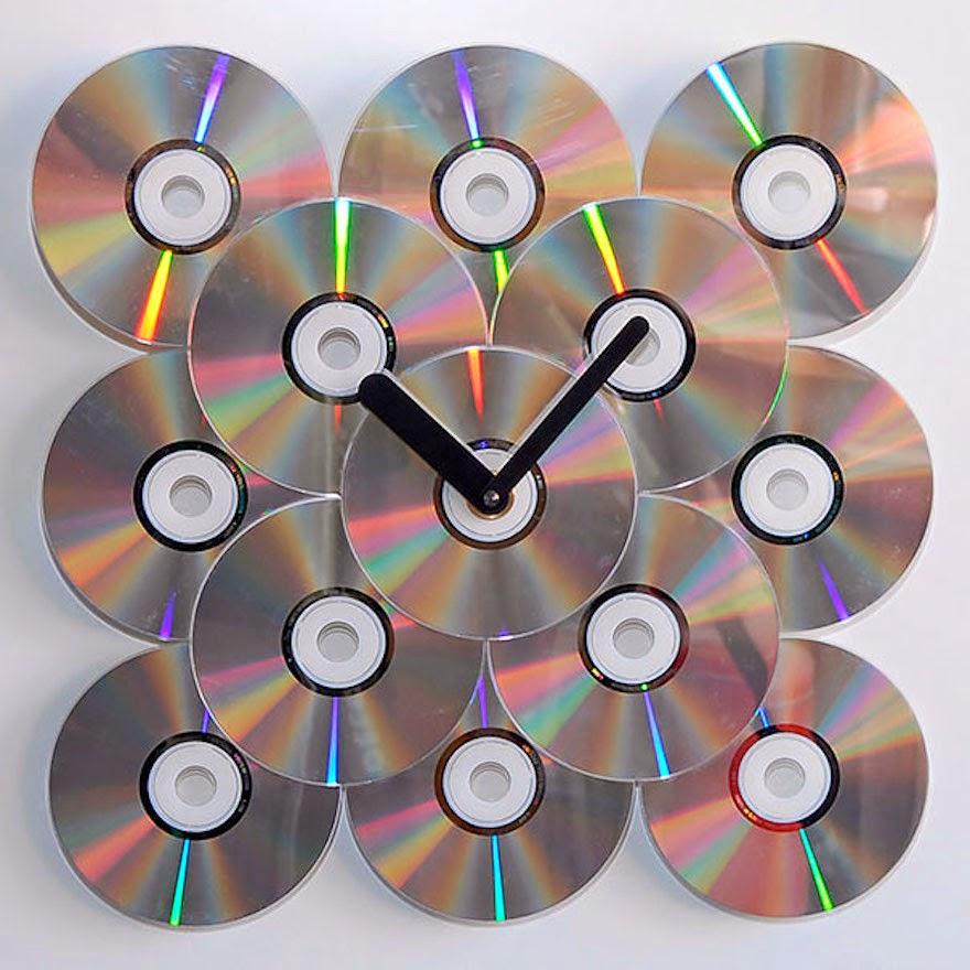 Reciclar CD\'s creando nuevos objetos