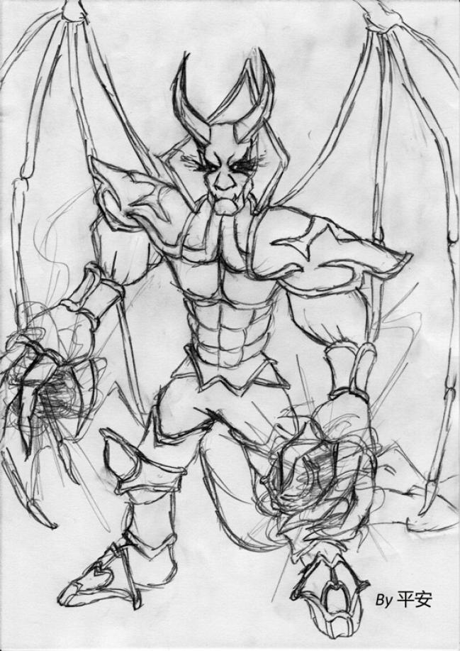 Как нарисовать героев из доты карандашом поэтапно