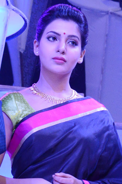 Actress Samantha Blue Saree Photos