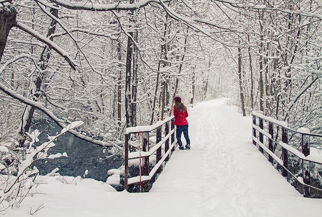 Long Bridge, Skaneateles, New York, U.S.A. - Snowy Wonderlands From Around The World Will Fight The Winter Blahs