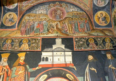 Govora Monastery, Oltenia, Romania, interior paintings