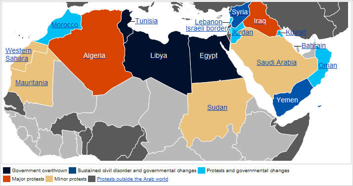 Syria Divided by Armed Conflict Feb 2012 Political Geography Now – Blank Map of Arab World