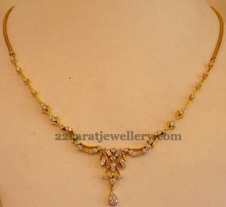 Simple 15 Grams Diamond Sets Jewellery Designs