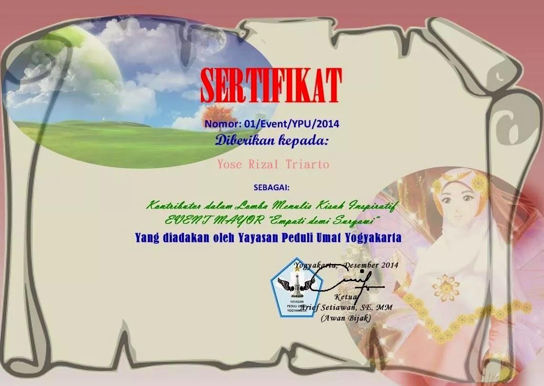 Lomba Menulis Kisah Inspiratif Yayasan Umat Peduli Yogyakarta