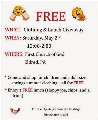 5-2 Free Clothing & Food Giveaway