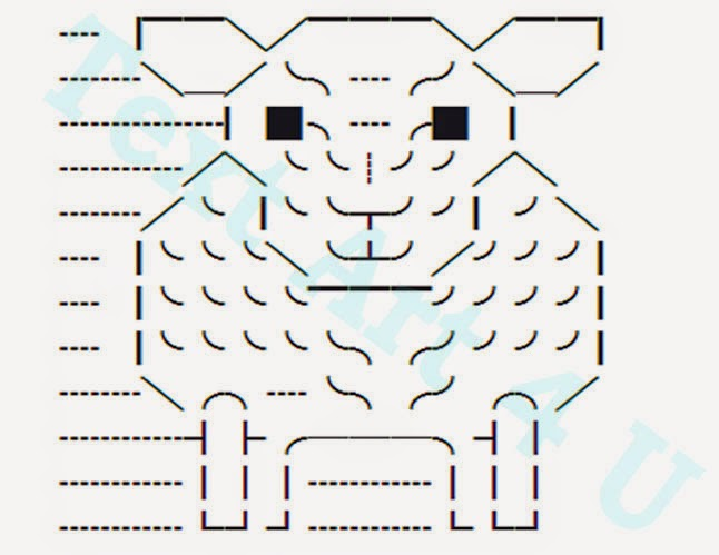 Sheep Unicode Text Art Copy Paste Code Cool Ascii Text Art 4 U