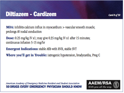 http://www.aaemrsa.org/resources/50-drugs-every-emergency-physician-should-know