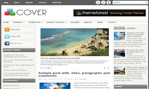 Cover Blogger Template