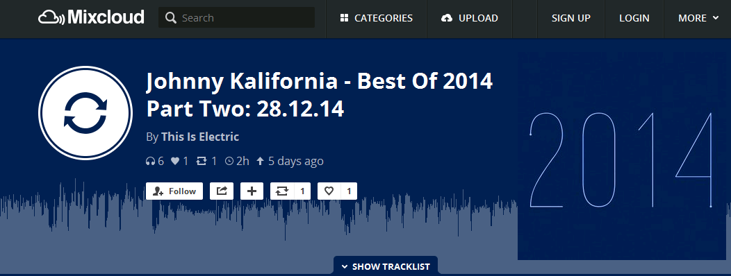 Parralox is #29 track of 2014 on This Is Electric!
