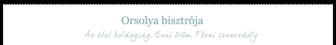 Orsolya bisztrója