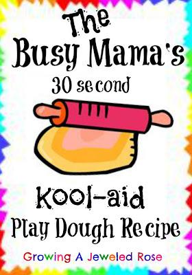 Kool-aid play dough recipe