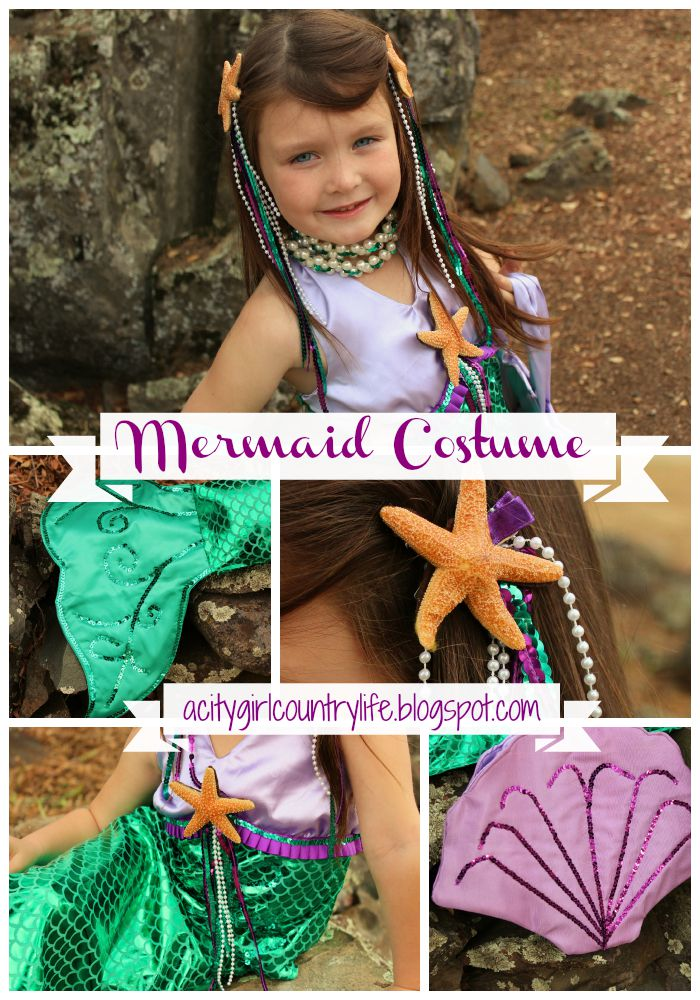 City Girl Country Life Girl's Mermaid Costume Simplicity 60 Delectable Mermaid Costume Pattern