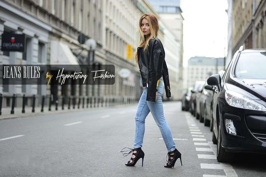 jeansy stylizacje