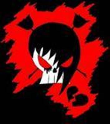 Emo Skull Graffiti Wallpaper