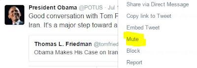 President Obama Twitter Mute