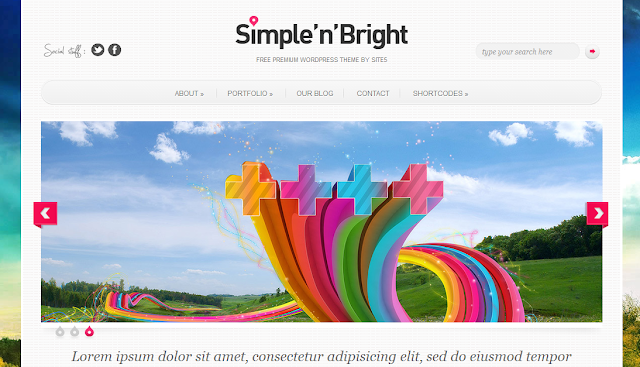 Simple N##Q## Bright WordPress Theme