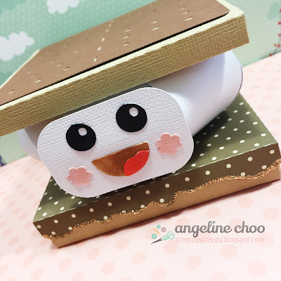 SVG Attic: Smore Fun 3D gift card box with Angeline #svgattic #scrappyscrappy #giftbox #smore #svg #cutfile