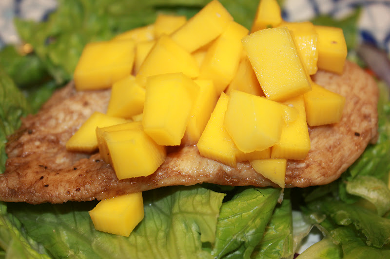 THE BUSY MOM CAFE: Balsamic-Mango Marinated Grilled Chicken