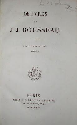 Oeuvres de Rousseau en 23 volumes, datés de 1821