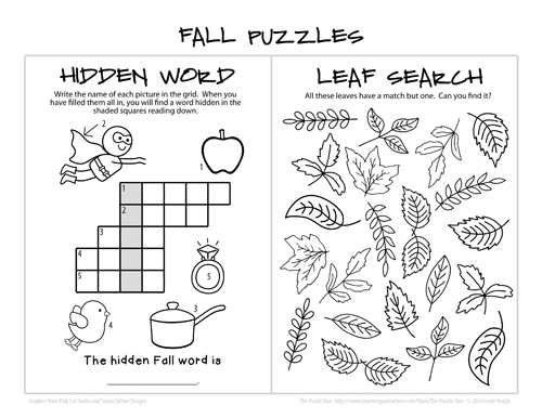 Fall Puzzles