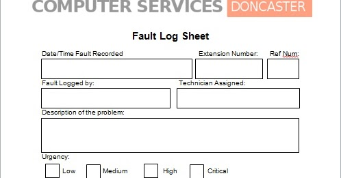 It Support Fault Logs M1