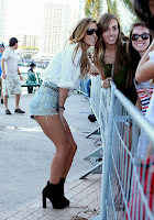 Audrina Patridge taking photos with fans