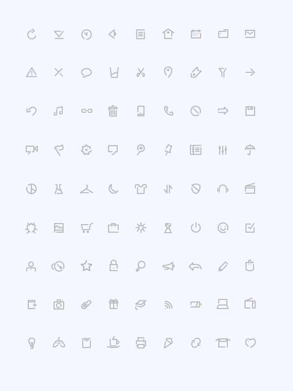 Simple (Outline Icons)