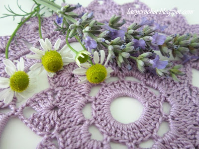 chamomiles lavander and crochet