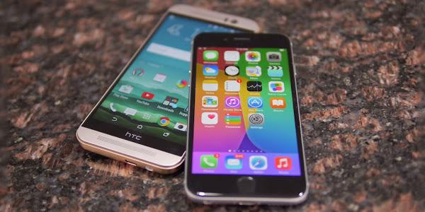 HTC One M9 vs. Apple iPhone 6 - Video Comparison