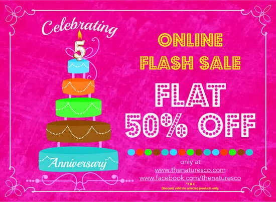 The Natures Co Flash Sale 5th aniversary