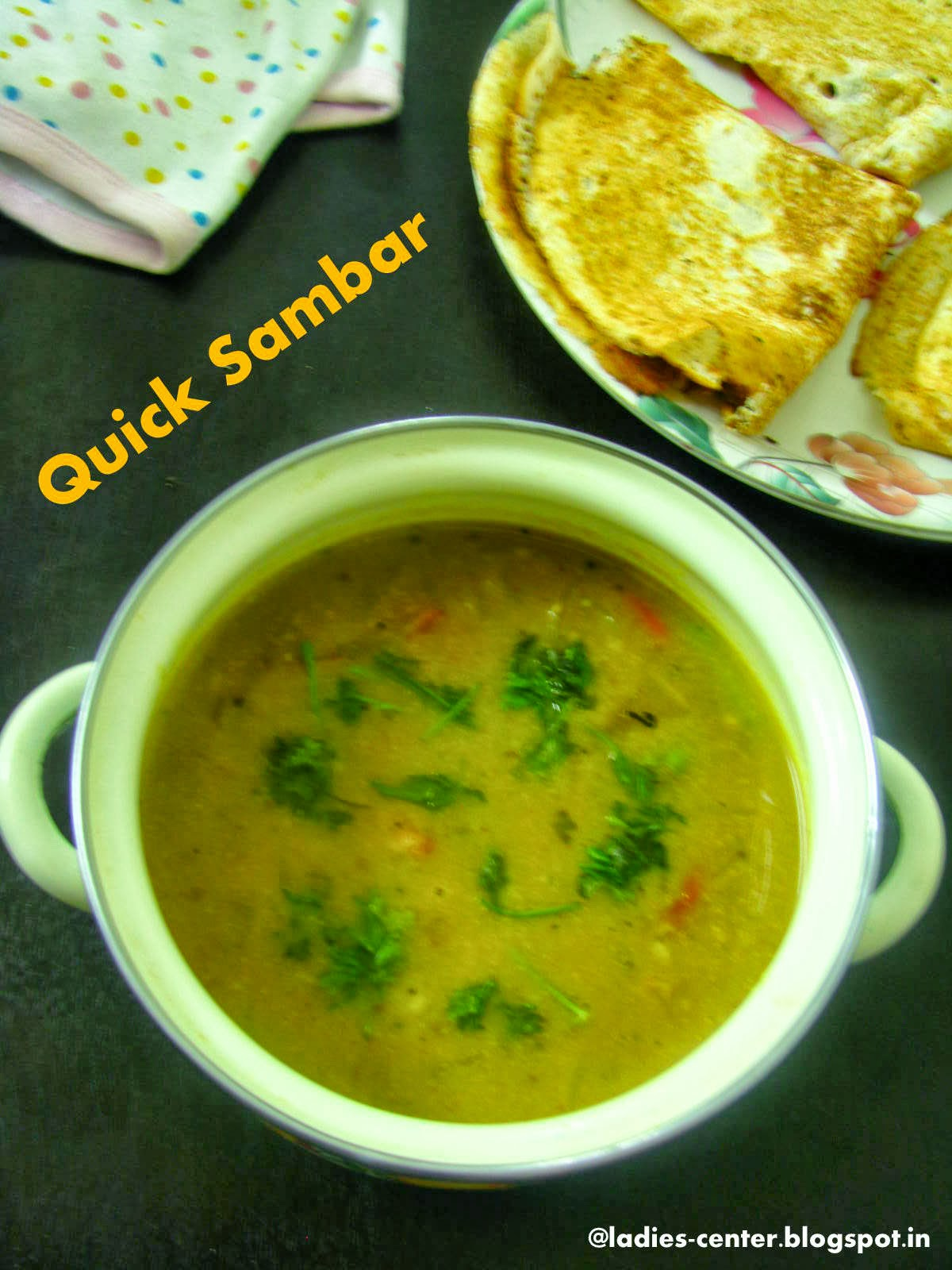 how to prepare tomato sambar without dal