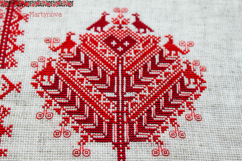 Схема вышивки крестом древо жизни