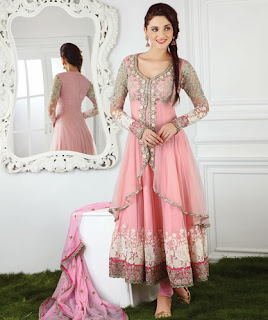 anarkali duuble frock designs