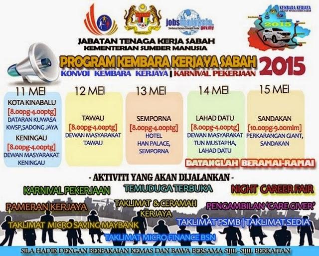 Konvoi Kembara Kerjaya Karnival Pekerjaan 2015 Sabah