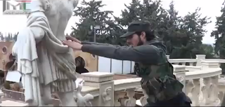 Syria: Al Qaeda FSA Terrorists Destroy Ancient Statues in a Museum in Syria fsa%2Bstatue 753540