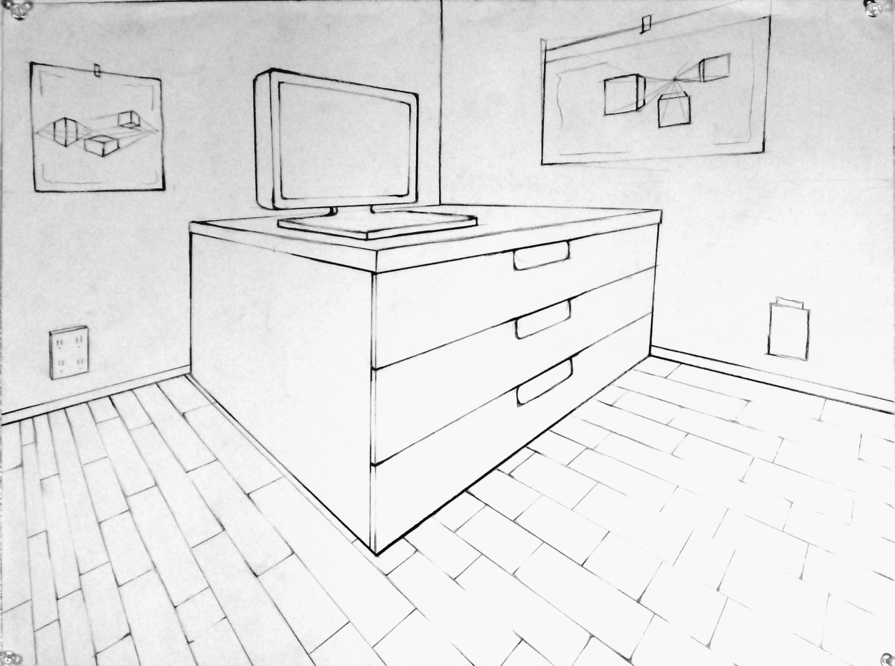 How To Draw Furniture Interior Design ~ Basic drawing examples of point interiors