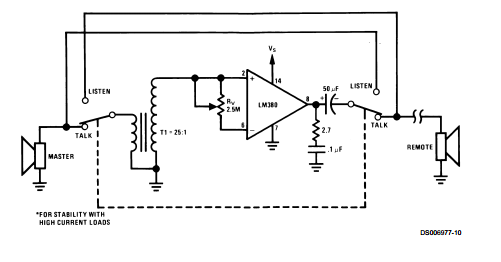 audio power amplifier lm380