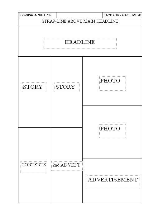 Newspaper Front Cover Template Gallery Template Design Free Download