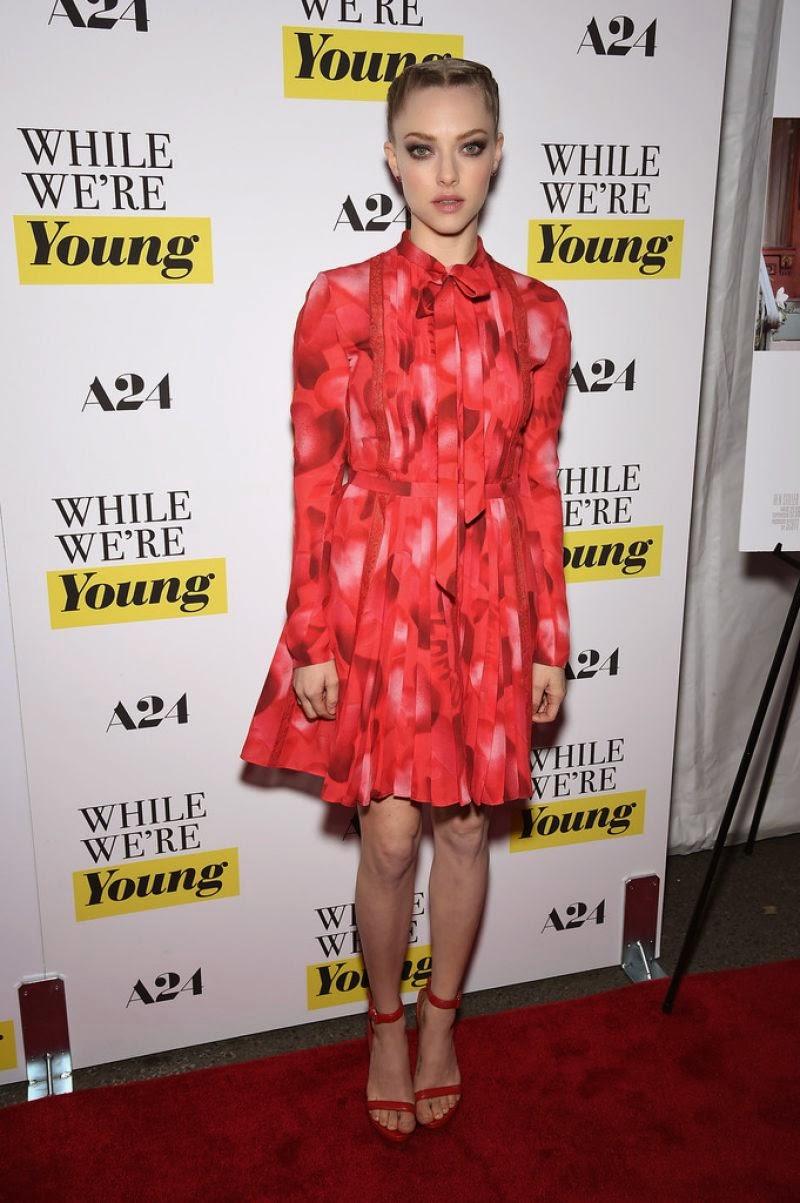 Amanda Seyfried wears Valentino to the 'While We're Young' NYC premiere