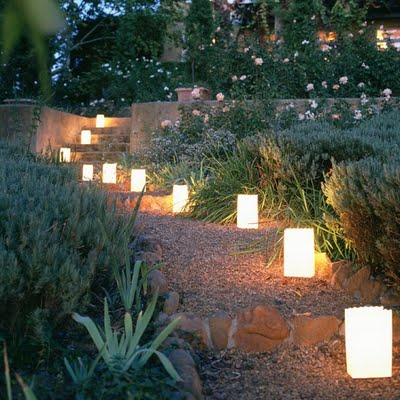 Decoración para fiestas: Iluminar el jardín